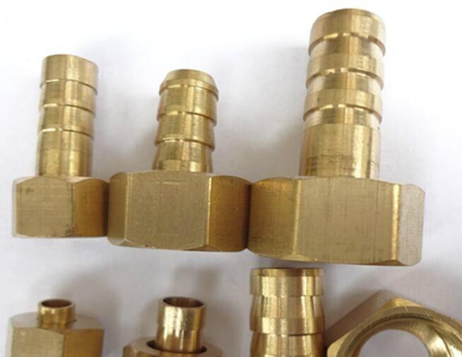 "1/2""NPT brass hose barb fittings water cooling push on fitting  4"