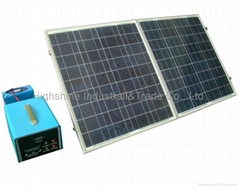 300W portable wind&solar energy system