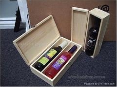 廠家供應雙支裝紅酒木盒