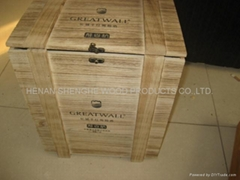 six bottled wine box