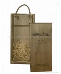 河南廠家現貨供應木製葡萄酒包裝盒 雙支仿古紅酒木盒 定做批發