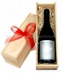 现货酒盒红酒盒 松木单排红酒木质酒盒子 葡萄酒木盒包装盒