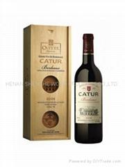 厂家批发双支红酒盒通用包装爆款木质现货松木双支酒盒仿古新款