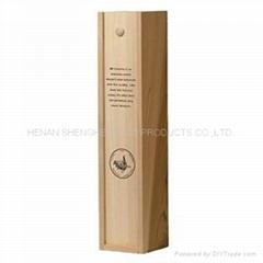 特價單支紅酒盒木盒葡萄酒包裝紅酒箱木質酒盒木盒子定做批發