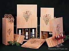 通用紅酒盒批發定做 木製酒盒子 單支裝酒盒 單只紅酒包裝