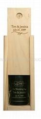 河南厂家定制通用高档松木创意红酒包装现货木制红酒木盒双支翻盖