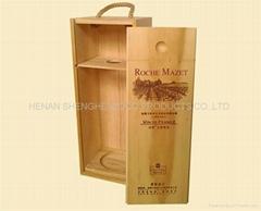 【暢銷精品】廠家力薦紅酒木盒、手工紅酒木盒 做工精緻
