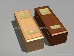 Blank 1 Bottle Wooden Wine Boxes, Sliding Lid