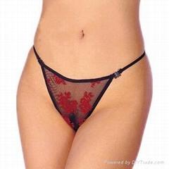 红色玫瑰花内裤