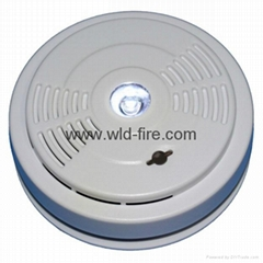 smoke detector + escape light+color box+battery
