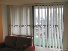 pvc vertical blinds for windows with s shapes vane and wand control
