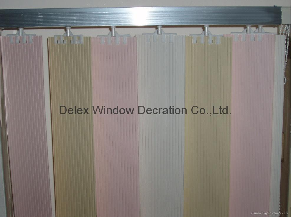 pvc vertical blinds for windows with s shapes vane and wand control 3