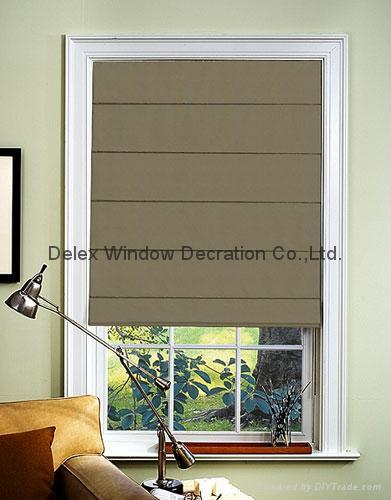 Blue Pleated Roman Windows Shades Blinds Blackout