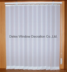 sunscreen fabric vertican blinds for windows with aluminum headrail