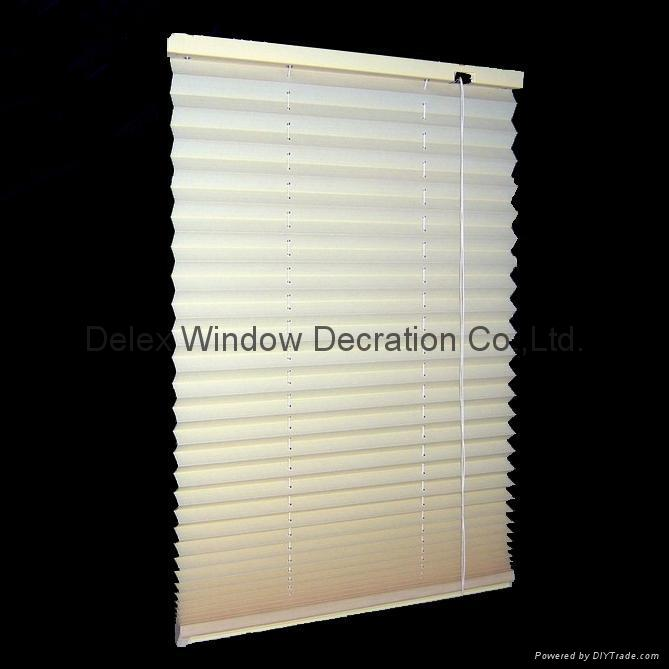 fabric pleated shades for windows with steel headrail and steel bottomrail 1