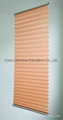 fabric pleated shades for windows with steel headrail and steel bottomrail 2