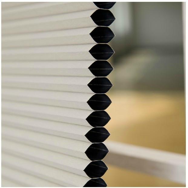 Windows Honeycomb Shades Manual Cord with Pleated Venetian 2