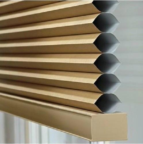 Windows Honeycomb Shades Manual Cord with Pleated Venetian 3