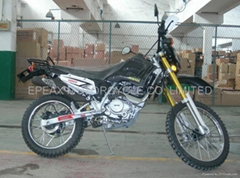 250CC dirt bike with reverted shocks and disc brakes