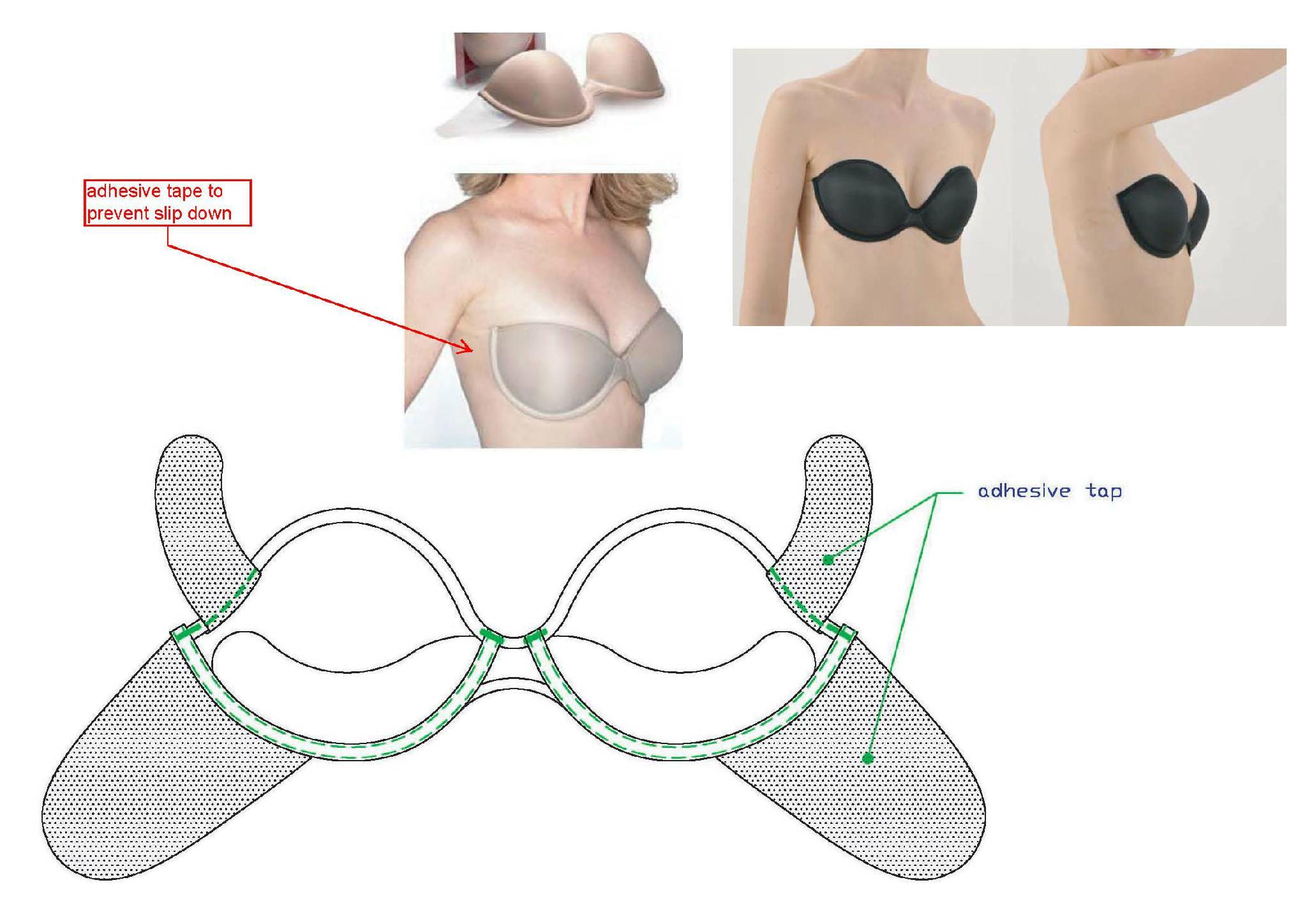 wholesale sports bra - breathable one piece silicon invisible bra 7