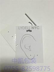 PVC背勾耳环卡牌