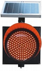 Solar flashing signal light