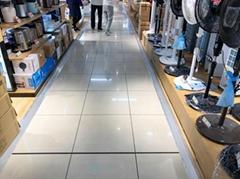 木地板压边条铝合金高低门槛压边大落差接缝压条商场展位专用压条
