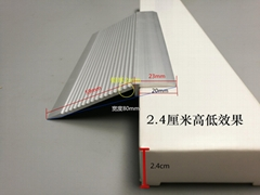 萬弘地板壓條加厚鋁合金高低斜邊