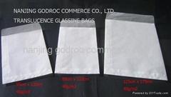 white glassine paper bag