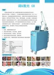 新款c8祛斑王多功能美容儀器激光洗眉機洗紋身儀器美容院專用