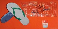 original white dove brand plastic light sandals