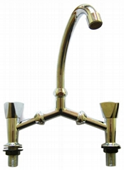 zinc alloy bridge faucet with plastic handle