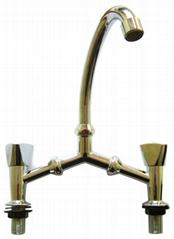 zinc alloy bridge faucet with plastic handle