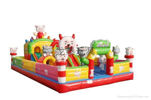 充气玩具迪斯尼城堡 充气跳床 充气攀岩 1