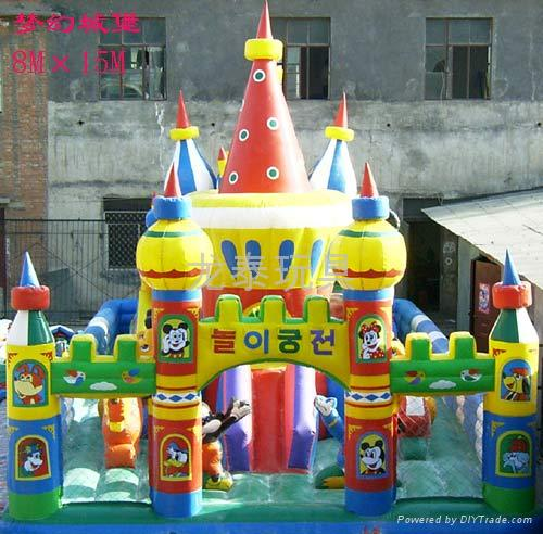 河南龍泰玩具廠專業生產大型充氣玩具充氣跳床 蹦蹦床 3
