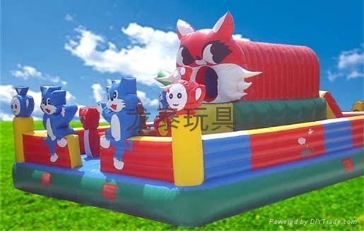 河南龍泰玩具廠專業生產大型充氣玩具充氣跳床 蹦蹦床 4