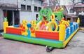 河南龍泰玩具廠專業生產大型充氣玩具充氣跳床 蹦蹦床 5