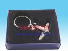 Airplane model key button