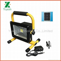 20W solar powered rechargeable and portable LED floodlight CE RoHS FCC