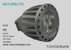 30 watt halogen replacement 12V MR11 GU4 4W led spot lights UL TUV,CE certified