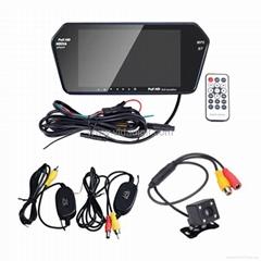 "Bluetooth Wireless Car Backup Camera System 7"" Ultra-thin HD Monitor Supply"