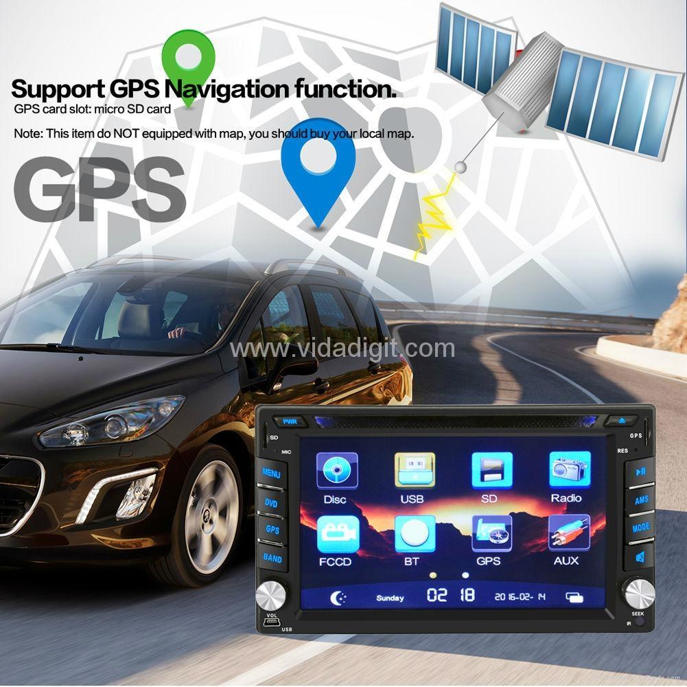 "2Din 6.2""  In-Dash Radio iPod TV Bluetooth GPS Navigation Car DVD/USB/SD Player 3"