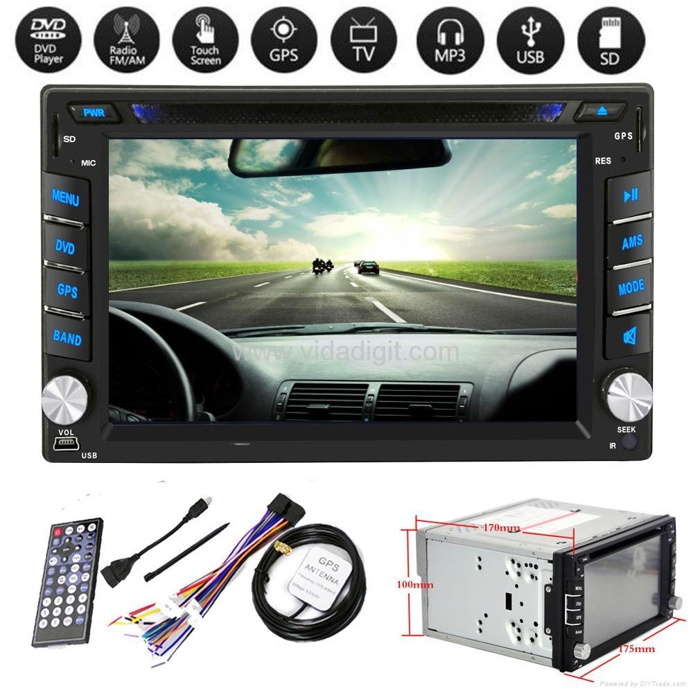 "2Din 6.2""  In-Dash Radio iPod TV Bluetooth GPS Navigation Car DVD/USB/SD Player 1"