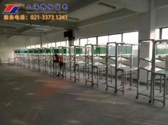 上海产铝型材非标电子操作台工作台配灯