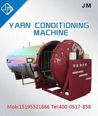 yarn  fixing and conditioning machine