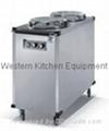 Electric plate warmer cart