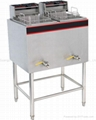 2-Tank Fryer 550X520X960mm Capacity:14+14L