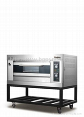 Gas Deck Oven 1 layer with cart  gas consumption:0.3KG/h Heat load:21Mj/h
