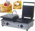 Double rectangle waffle maker