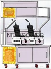 廣州時尚小吃創意夢工廠--臺灣大鵰燒手推車,大吊燒流動小吃車